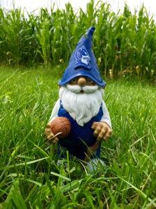 G, the Blue Devil gnome, in Indiana