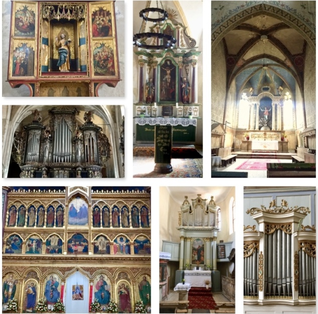 Organs & altars collage