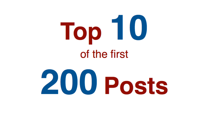 200 Posts: Top Ten